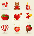 set love and romantic icons vector image