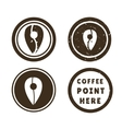 sign coffee navigation vector image vector image