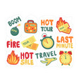 sticker pack last minute set discounts for vector image vector image