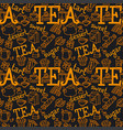 tea seamless pattern vector image