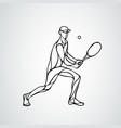 tennis player black creative silhouette vector image vector image
