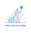 the businessman climbs the career ladder vector image