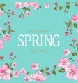 the spring sale card vector image