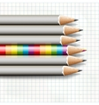 To be different rainbow pencil near the simple vector image