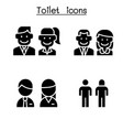 toilet restroom wc icon set vector image