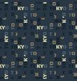 tokyo pattern seamless design vector image