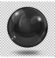 translucent black sphere vector image vector image