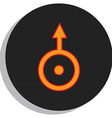 uranus symbol vector image vector image