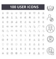 user line icons signs set outline vector image vector image