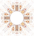 vertical card with tribal geometric mandala and vector image vector image