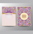 vintage postcards with a floral mandala ornament a vector image vector image