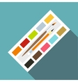 Watercolor icon flat style vector image vector image