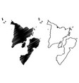 western visayas region map vector image vector image