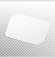 white card isolated on transparent background eps vector image vector image