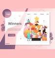 winners website landing page design vector image