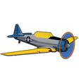 world war ii era navy training airplane vector image vector image