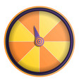 yellow orange wheel fortune icon cartoon style vector image