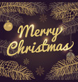 happy merry christmas holiday greeting card vector image