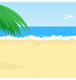 seaside beach vector image
