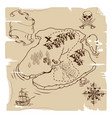 ye olde pirate treasure map vector image