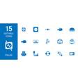 15 plug icons vector image vector image