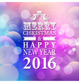 2016 Merry Christmas and Happy New Year card or vector image vector image