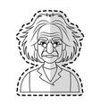albert einstein icon image vector image vector image