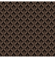 Art deco geometric pattern in brown color vector image vector image