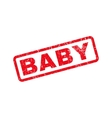 Baby Text Rubber Stamp vector image vector image