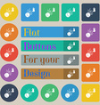 Basketball icon sign Set of twenty colored flat vector image vector image