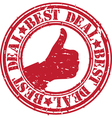 Best deal stamp vector image vector image