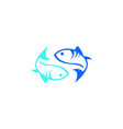 blue fish logo vector image