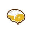 brain beer logo icon design vector image vector image