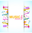 bright music concept vector image vector image