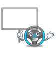 bring board steering wheel isolated in the cartoon vector image