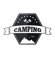 Camping logo design vector image vector image