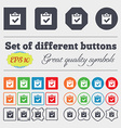 Check mark tik icon sign Big set of colorful vector image vector image