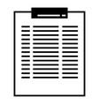 clip board icon simple style vector image vector image