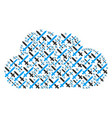 cloud mosaic of crossing swords icons vector image vector image
