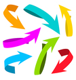 Colorful Arrows on White Background vector image vector image