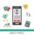 concept mobile online payroll operation vector image vector image
