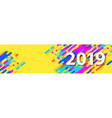 creative happy new year 2019 card on modern vector image vector image