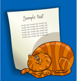 design with fat cat vector image vector image