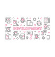 development concept outline horizontal vector image