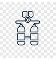 diver concept linear icon isolated on transparent vector image