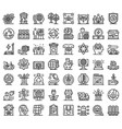 Ecologist icons set outline style