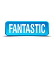 fantastic blue 3d realistic square isolated button vector image