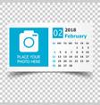 february 2018 calendar calendar planner design vector image