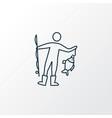 fishing icon line symbol premium quality isolated vector image