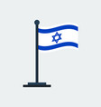 flag of israelflag stand vector image